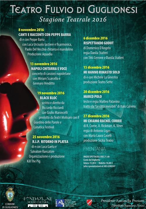 Stagione Teatro Fulvio 2016